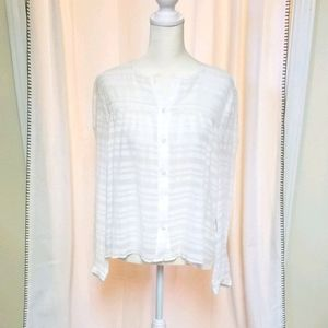 Frame gauzy blouse would fit Sm or M too